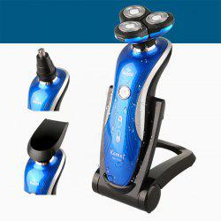KM-1150 4D Triple Blade Rechargeable Electric Shaver IPX7 Waterproof Nose Hair Trimmer -