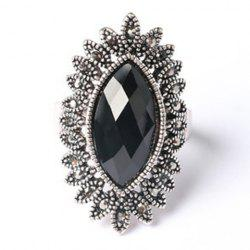 Charming Faux Gemstone Oval Ring For Men