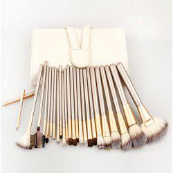 24PCS Goat Hair Makeup Brushes Cosmetics Accessory - CHAMPAGNE