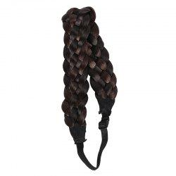 Attractive High Temperature Fiber Braided Hair Extensions For Women - COLORMIX
