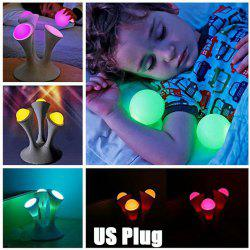 Glowing Ball Color Changing LED Nightlight with Removable Bulbs Home Sleeping Lamp