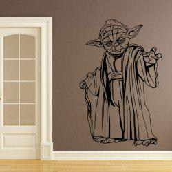 w-22 YODA Style Removable Wall Stickers Water Resistant Home Art Decals -