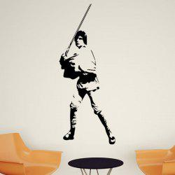 w-28 Luke Skywalker Style Removable Wall Sticker Water Resistant Home Art Decals