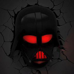 Darth Vader Shape Lampe murale 3D Chambre à coucher Nightlight décoratif - Noir