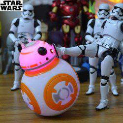 BB-8 Droid Robot Tumbler Model Light Music Player Roly-poly Toys