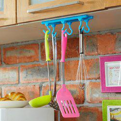 Multifunctional Self-adhesive Hanging Hook 6 Rotary Pothook - BLUE