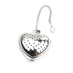 Mini Heart Shape Infuser Stainless Steel Tea Filter - WHITE GOLDEN