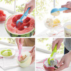 ABS Ice Cream Fruits Spoon with Press Button Practical Kitchen Gadget -