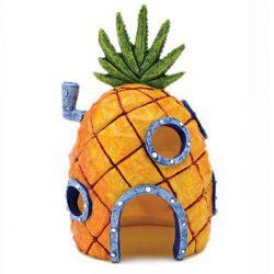 Pineapple Head House Style Aquarium Ornament Décoration de réservoir de poisson -