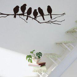 Sweet Branch Bird Pattern Removeable Toilet Wall Sticker Animals