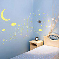 Castle Pattern Removable DIY Luminous Wall Sticker For Kids Room