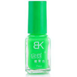 7ml bNoctilucent Fluorescent Lacquer Neon Glow In Dark Nail Polish - GREEN
