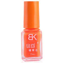7ml bNoctilucent Fluorescent Lacquer Neon Glow In Dark Nail Polish - ORANGE