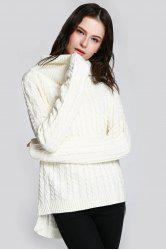 Cable Open Back Sweater -