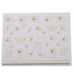 Fashionable Art Decorations Girls 3D Nail Stickers - #XF700