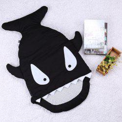 Thicken Shark Blanket Sleeping Bag For Kids - BLACK