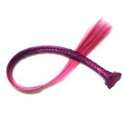 Trendy Deep Purple Ombre Rose Synthetic Long Clip In Women's Fishbone Braided Hair Extension - COLORMIX