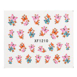 Watermark Butterflies Design Nail Sticker Manicure Decor Tools - XF1210