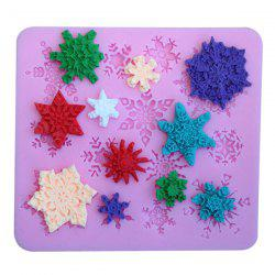 Chic Snowflake Shape Food Grade Silicone DIY Cake Mold