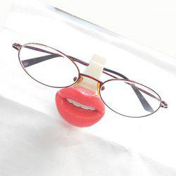 Chic Teeth and Red Lip Shape Silica Gel Glasses Display Rack