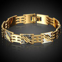 Noble Stitching Color Box Chain Bracelet For Men