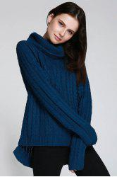 Cable Open Back Sweater