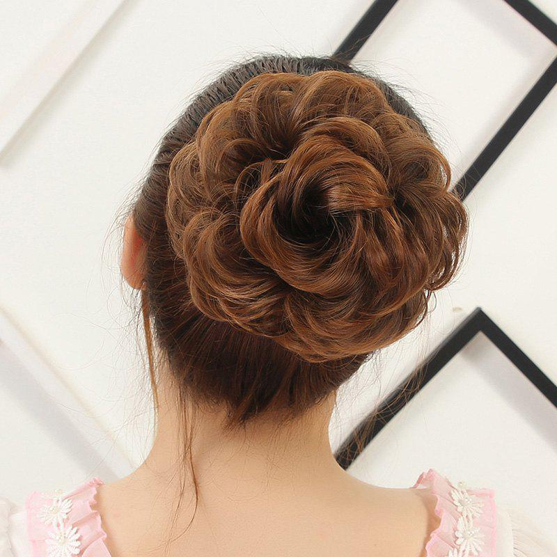 Attractive Fluffy Curly Vogue Heat Resistant Fiber Hair BunHAIR<br><br>Color: BROWN 2M30#; Style: Chignons; Type: Loop; Hairstyling: Curly; Fabric: Synthetic Hair; Length: Short; Weight: 0.09KG; Package Contents: 1 x Chignons; Length Size(CM): 13;