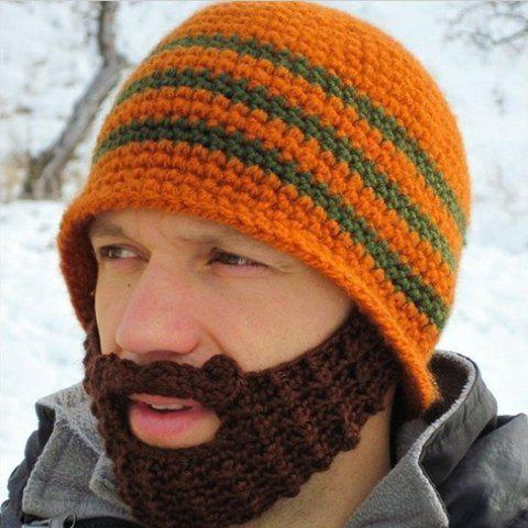 Store Chic Knitting Pattern Decorated Hat For Men