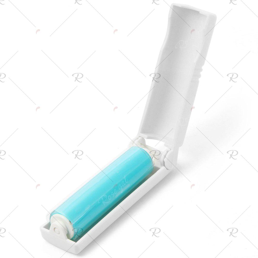 Portable Reusable Sticky Lint Roller Pet Hair Remover Dust CleanerHOME<br><br>Color: WHITE; Type: Practical; For: All; Occasion: Living Room,Bedroom,School,Others,Outdoor; Functions: Multi-functions; Material: Plastic;