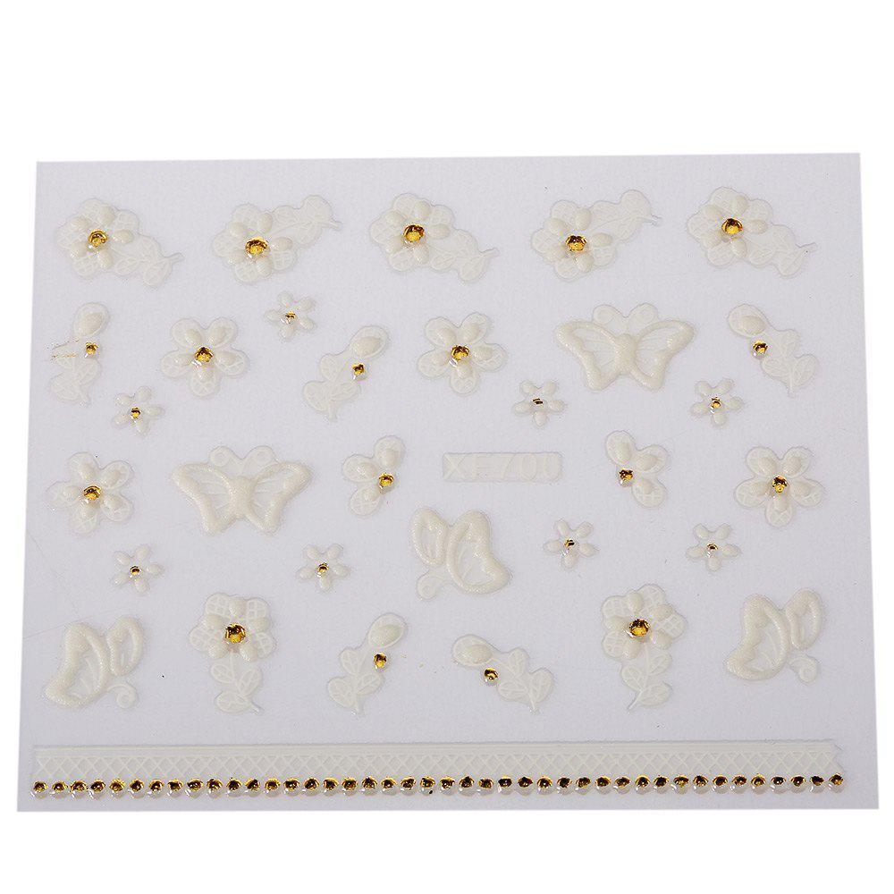 Fashionable Art Decorations Girls 3D Nail Stickers от Rosegal.com INT