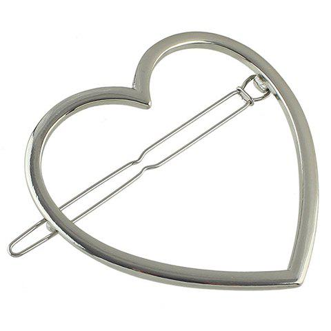 Latest Simple Style Solid Color Heart Hairgrip For Women
