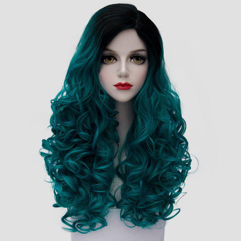Black/green Fashion Black Turquoise Ombre Synthetic Trendy ...