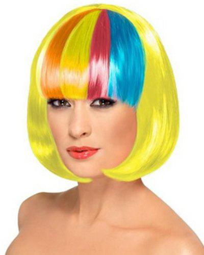 Best Assorted Color Bob Style Short Synthetic Fashion Straight Universal Cosplay Wig For Women