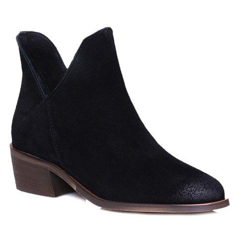 Cheap Fashionable Round Toe and Suede Design Women's Ankle Boots
