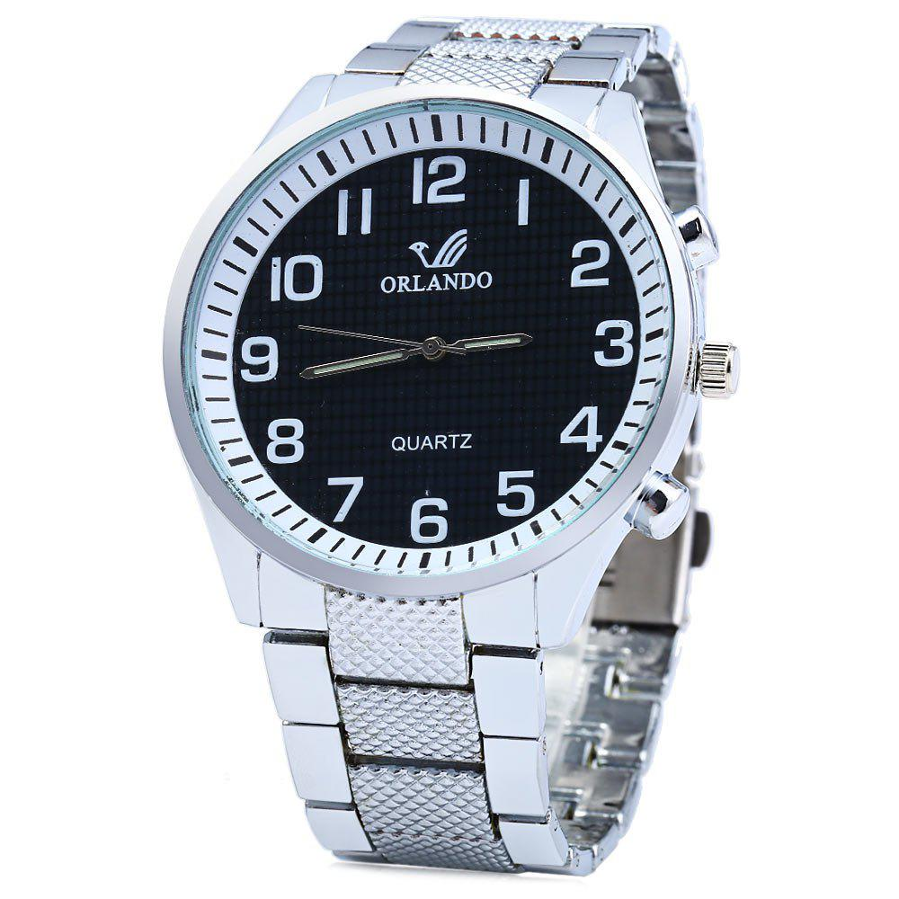 ORLANDO 395 Male Quartz Watch with Stainless Steel Band