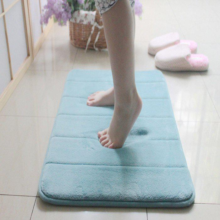 Memory Cotton Anti-slip Carpet Floor Mats for Bathroom Bath Door Living RoomHOME<br><br>Color: LIGHT BLUE; Type: Comfortable,Decoration,Practical; For: All; Occasion: Living Room,Kitchen Room,Bathroom,Bedroom,Dining Room,Office,School,Home,Bar,KTV,Others; Functions: Multi-functions; Material: Cotton,Coral FLeece;