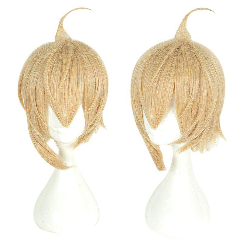 Store Yellow Short Hair Cosplay Wig Male Party 35 cm Synthetic Hair Wigs