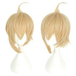 Yellow Short Hair Cosplay Wig Male Party 35 cm Synthetic Hair Wigs -