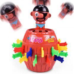 Funny Novelty Kid Children Lucky Game Tricky Pirate Barrel toy -
