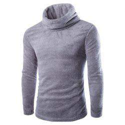 Men's Sweater Warm Pile Collar Solid Color Thickening -