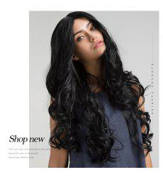 Orgshine Fashion Long Big Wave Synthetic Hair Wig Black Color HG204 -
