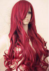 brown red curly long full hair wigs -