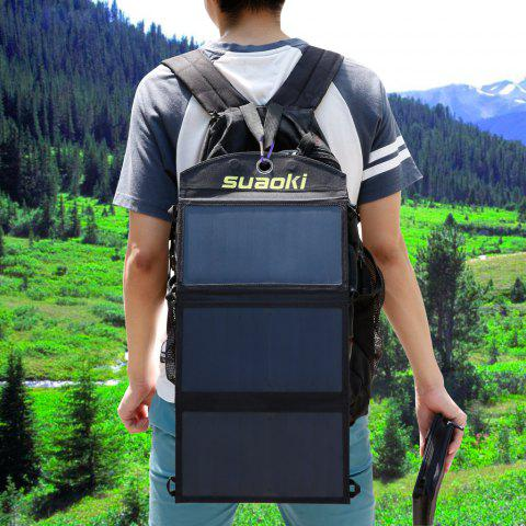 Fashion suaoki 20W Foldable Dual-Port Solar Charger