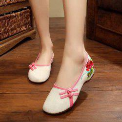 Sexy Comfortable Breathable National Wind Non - Slip Embroidered Classical Shoes -