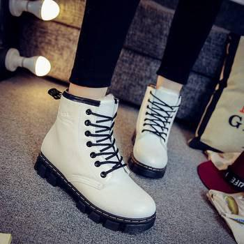 Online Classic Martin British Thickened Velvet Ankle Winter Thick-soled Boots