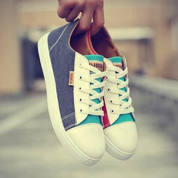 Chic Men Wild Casual Trend Breathable Canvas Board Shoes