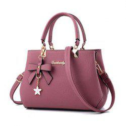 Women Sweet Shoulder Tote Handbag Satchel  Crossbody Bag with Bow Knot Flower -