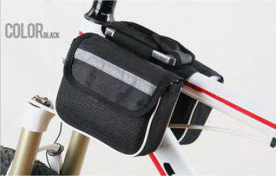 Double Saddle Packs Mountain Bike Men 3 - in - 1 Bag on the Tube Cycling  Package Equipment Accessory -