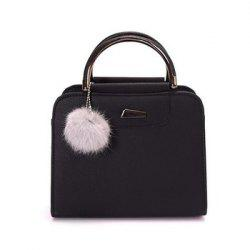 Women's PU Leather Fashion Wild Top-Handle Bag -