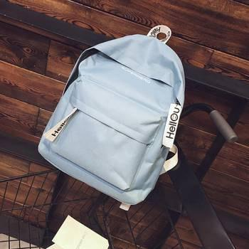 Chic Canvas Cute Travel Bags Printing Backpacks Laptop Backpack Teenage Girls